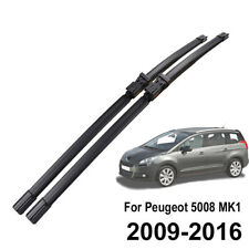 Front Windshield Wiper Blades For Peugeot 5008 2009 2010 2011 2012 2013 2014 15