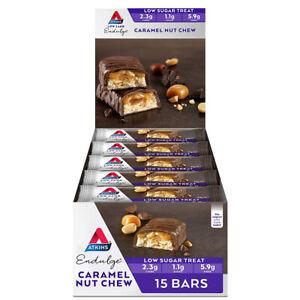 15pc Atkins Low Carb/Sugar 34g Endulge Protein Bar Diet Snack Caramel Nut Chew
