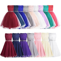 Flower Girl Sequined Lace Bridesmaid Dress Wedding Kids Princess Tulle Tutu Gown