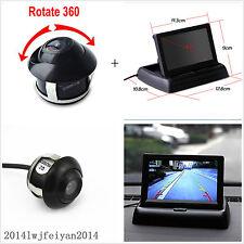 "360° Rotatable Reverse Parking HD Camera + 4.3"" Foldable LCD Display Monitor Kit"