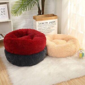 Soft Pet Dog Sofa Donut Bed Pet Products Winter Warm Long Plush Dog House