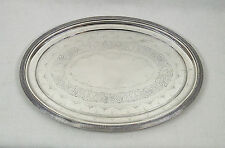 """Antique Gorham Sterling Silver Engraved Footed Tray 16 """""""