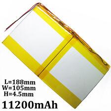 "3.7V 11200mAh li-po li ion polymer Battery For PAD power bank 9""  11"" Tablet PC"