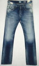 Replay JENNON Regular W33 L34 RRP £130 Mens Blue Denim Jeans