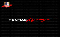 PONTIAC RACING Windshield Vinyl Banner 2 COLOR Window Decal sticker graphic