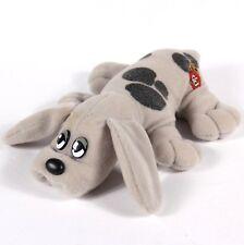 "Vintage 8"" Pound Puppies Grey w Brown Spots Puppy Plush Stuffed Animal"