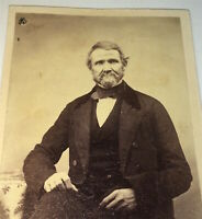 Antique Victorian American Civil War Era Fashion Old Man CDV Photo! C.1860's US!