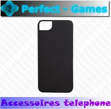 coque etui housse protection rubber cover case Apple Iphone 5 5S noir black