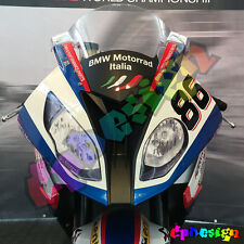 KIT ADESIVI FARI BMW S1000RR HP4 2015  REPLICA SBK moto sticker racing Headlight