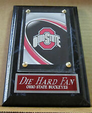 DIE HARD FAN OHIO STATE BUCKEYES CARD WALL PLAQUE FOR YOUR MAN CAVE