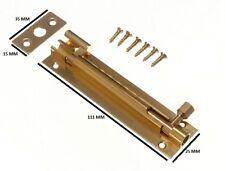 COULISSE du Barillet De Canon PORTE Coudé Déport 100mm 10.2cm bronze avec vis