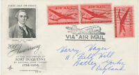 USA 1962 5 C (3x) Air Mail Airplane Douglas DC-4 Skymaster superb Air Mail cover