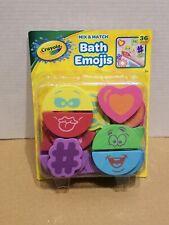 Crayola Mix And Match Bath Emojis - 36 Piece Bath Toys