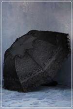 Dark in Love Black Lace Parasol Telescopic Umbrella Gothic Lolita Victorian
