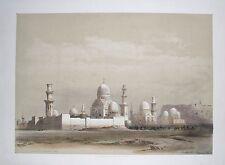 David Roberts 1849 H/C 1st Folio TOMBS OF THE MAMELUKES CAIRO EGYPT