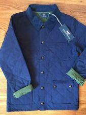 Vineyard Vines Mens Quilted Jacket Deep Bay Blue Green Barn Coat size M NWOT