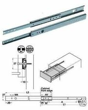 Drawer Runners (Pair) 278mm - 452mm For 27mm Grooved Drawers 420.95.457 (Hafele)
