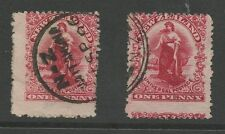 NEW ZEALAND 1902 PENNY UNIVERSALS...MISPERFORATED...2 stamps...USED