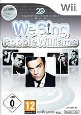 Nintendo Wii karaoke juego We Sing robbie williams nuevo & OVP