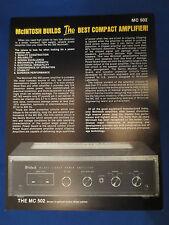 MCINTOSH MC 502 AMP TUNER SALES BROCHURE ORIGINAL GOOD CONDITION