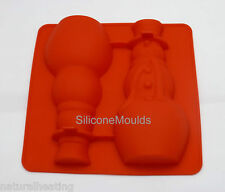 SNOWMAN 3D Hollow Chocolate Candy Cake Silicone Mould Mold Form Christmas Xmas