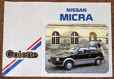 1986 NISSAN MICRA COLETTE Sales Brochure - Brand New Old Stock!!