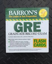 Barron's GRE Flash Cards by Sharon Weiner Green and Ira K. Wolf (2008) 500 Cards