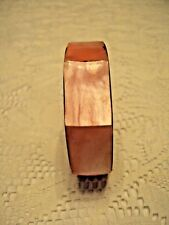 "Fashion  Bangle Bracelet  rose Mother of Pearl Inlay 1/2"" wide"