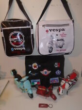 1OF3] VESPA PIAGGIO GROUP  CLUB  PATCH BAG+1959 BEACH MODEL UNION JACK SCOOTER