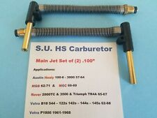 "S.U. HS Carburetor Main Jet Assembly .100"" Healey MGB TR4A Volvo 122s 544 P1800s"