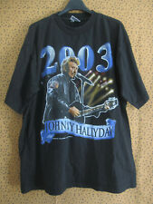 Tee Shirt Johnny Hallyday 2003 Jersey Homme Vintage Shirt Black - XL