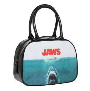 Rock Rebel Universal Jaws Movie Poster Bowler Handbag Purse UJAWS-HB03-POSTER
