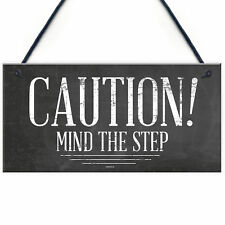 Mind The Step Sign Warning Caution Health & Safety Hanging Door Wall Sign Plaque