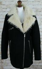 Topshop Black Coat size Uk 12