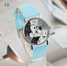 Free Gift Bag Children's Disney Mickey Minnie Mouse Watch Blue Strap Easy Read