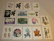 Pokemon Art Set - Black and White Game Art Folio - Small Art Card Prints Decor