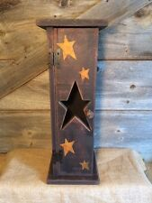 PRIMITIVE BLACK 5 ROLL TOILET PAPER BOX/Country/Rustic/Distressed