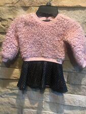 Calvin Klain Jeans Sweater/ddress Pink/black Toddler Dress Size 3T