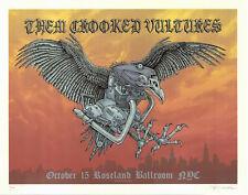Mint/Signed 2009 Emek Them Crooked Vultures Zeppelin Poster 112/150