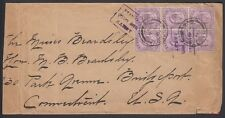 CEYLON, 1907. Cover 169 (6),  Anti-Bandit, Bridgeport, Ct