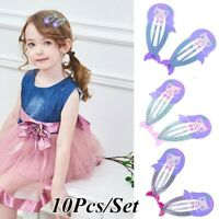 10pcs Mermaid Snap Hair Clip Hairpin Barrette Accessories For Baby Girl Children
