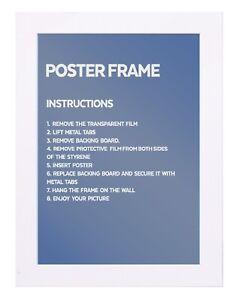 "White Maxi Poster Frame,Size(61 cm x 91.5 cm(36 x 24""Inch)"