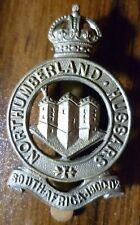 VINTAGE Northumberland Hussars Cap Badge KC WM Slider Genuine