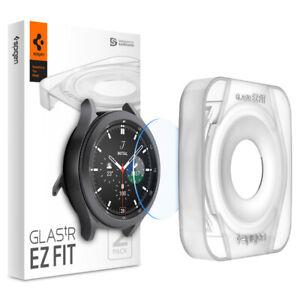 Galaxy Watch 4 Classic | Spigen ®[ Glas.tR EZ FIT ] Shockproof Screen Protector