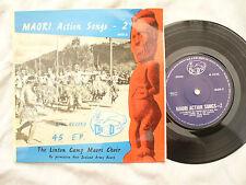 MAORI ACTION SONGS 2 EP LINTON CAMP MAORI CHOIR kiwi records m3d 2 ....... 45rpm
