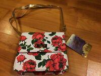 B72 Brand New Girls' Disney Beauty and the Beast Rose Print Purse (Handbag)