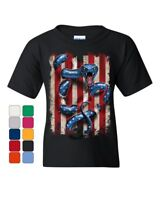 American Serpent Youth T-Shirt Don't Tread on Me Gadsden Flag Kids