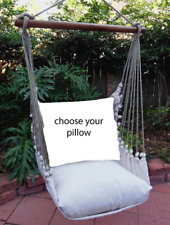 MAGNOLIA CASUAL HAMMOCK SWING SET - LATTE Choose Your Pillow