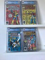 TRANSFORMERS  UNIVERSE  1-4 CGC COMPLETE SET-Marvel Comic