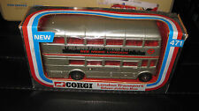 CORGI  TOYS #471 LONDON TRANSPORT  ROUTEMASTER DOUBLE DECKER SILVER JUBILEE  BUS